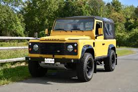 land rover defender 90 yellow collectorscarworld com 1987 land rover defender 90 soft top