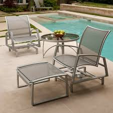 Cast Iron Patio Furniture Sets by Furniture Pair Wrought Iron And Mesh Lounge Chairs By Woodard