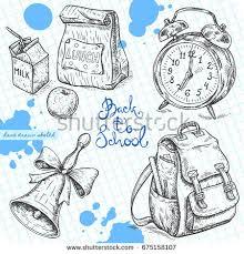 vector linear illustration set alarm clock stock vector 675158107