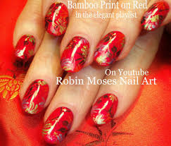 elegant christmas red nails easy classic nail art design