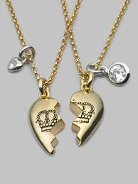 necklace best friends images Lyst juicy couture best friends forever necklace in metallic jpeg