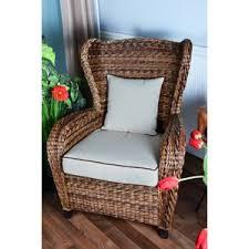 wicker rattan chairs indoor wayfair