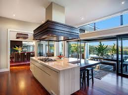 contemporary hill home with beautiful gardens and pool kitchen