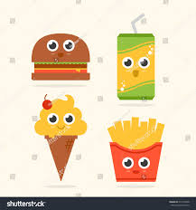 ice cream emoji png cute hamburger soda ice cream fries stock vector 671030248