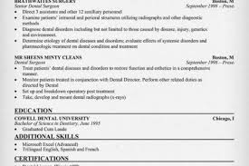 Dental Resume Samples by Dental Assistant Resume Dentistry Resume Reentrycorps