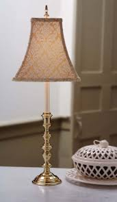 mini candlestick buffet lamp with flower pattern fabric cover