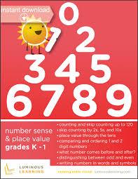grades k 1 number sense u0026 place value e workbook making math