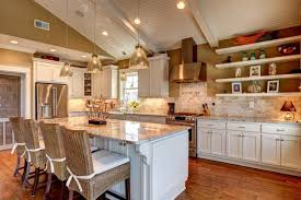Kitchen With Vaulted Ceilings Ideas Kitchen Vaulted Ceiling Lighting Ideas Small Kitchen Ceiling Ideas