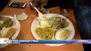 thanksgiving feast held early in saginaw wsmh