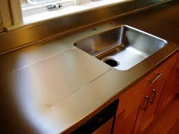 stainless steel countertop with sink 1 1 2 stainless steel countertop with integral sink pitched drain
