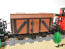 box car train mod moc western train with constitution engine u0026 custom box car