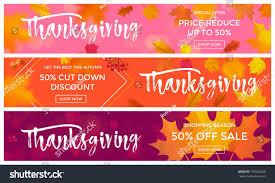 thanksgiving sale poster autumn fall season stock vector 737045260