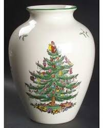 Spode Vases Don U0027t Miss This Deal On Spode Christmas Tree Green Trim Vase Fine