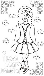 love irish dancing colouring coloring pages glum