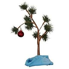 christmas tree pictures amazon com charlie brown christmas tree with blanket 24 tall non