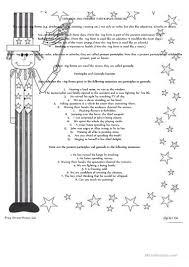 Participle Worksheet Gerunds And Present Participles Worksheet Free Esl Printable
