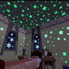 100pcs glow in the dark stars wall stickers diy wall paper glowing 100pcs glow in the dark stars stickers diy wall decor fluorescent wall decals