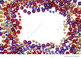 mardi gras frames bead string border picture