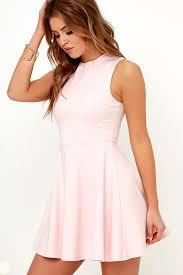 loving dresses light pink loving light pink skater dress party dresses for