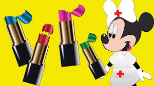 minnie mouse nurse mikey mouse lipstick challenge mickey