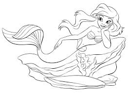 142 mermaid colouring images