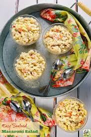 yummy pasta salad easy seafood macaroni salad this mama cooks on a diet