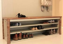 terrifying entryway bench with coat rack and storage tags