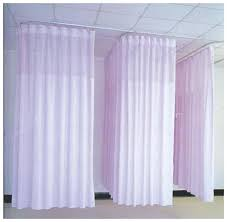 Cubicle Curtains With Mesh Hospital Curtain Track 10ft Medical Privacy Flexible Curtains