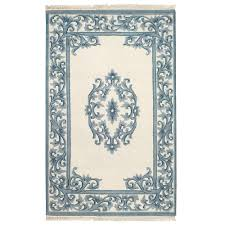 home decorators area rugs home decorators collection filigree aubusson blue 5 ft 3 in x 8