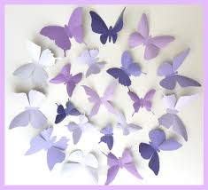 3d wall butterflies 15 lavender purple eggplant butterfly