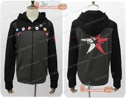 second delsin rowe son long sleeved jacket hoodie with hat pin