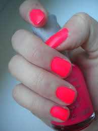 orly passion fruit neon pink nail polish neon pink nails and