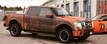 rusty pickup truck modern ford f 150 gets rusty wrap looks like wicked barn find