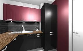 cuisine noir et rouge planit 2020 fusion home créations