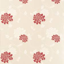 isodore linen cranberry floral wallpaper for the home