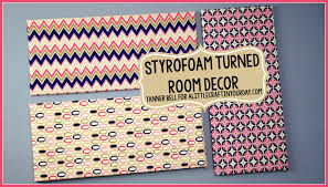 styrofoam turned room decor teen room decor inexpensive teen