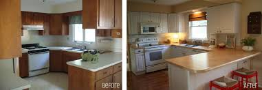 kitchen cabinet refinishing before and after budgetfriendly beforeandafter kitchen makeovers diy ideas small