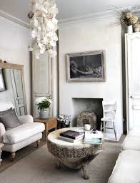 shabby chic boho living room decor with monochrome ideas and white
