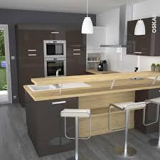 cuisine moderne taupe cuisine moderne avec bar collection et cuisine couleur taupe avec