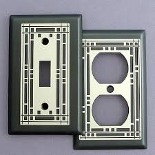 craftsman style light switches light plates and outlet plates frank lloyd wright inspired like