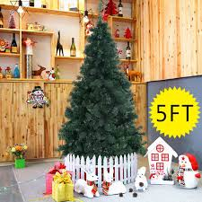 goplus 5 artificial tree spruce hinged w