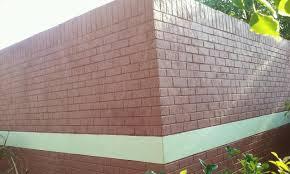 cinder block fence repair collapsing concrete block foundation c