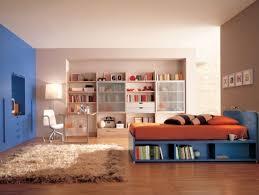 deco de chambre ado design interieur idées décoration chambre ado orange bleu 100