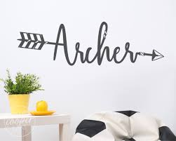 custom boho arrow name wall decal large vinyl wall decal sticker