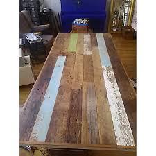 modern reclaimed wood conference table w a frame legs aptdeco