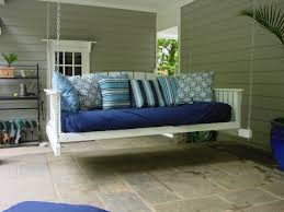 exterior comfortable terrace with porch swing bed plans twin bed
