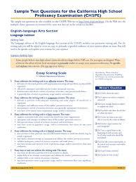 chspe sample questions essays paragraph