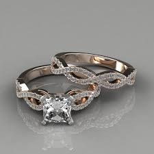 rings design images images Infinity design princess cut bridal set rings puregemsjewels jpg