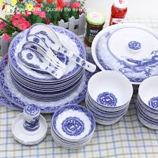 bulk sale blue bone china dinner sets pattern