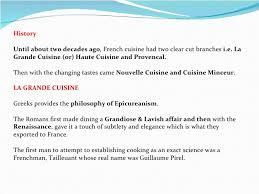 define haute cuisine cuisine an view